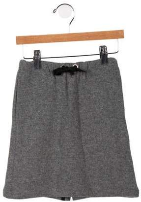 Marni Junior Girls' Bow-Accented Knit Skirt grey Junior Girls' Bow-Accented Knit Skirt