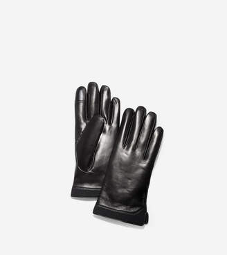 Cole Haan 3.ZERGRAND Leather Neoprene Gloves