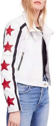 Free People Star Power Leather Moto Jacket