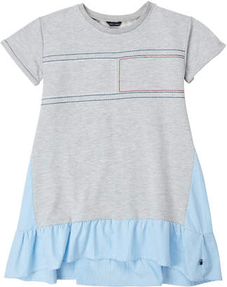 Tommy Hilfiger Girls 7-16) Mix Media T-Shirt Dress