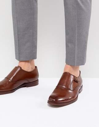 Aldo Catallo Leather Monk Shoes In Tan
