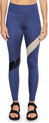 Koral Activewear Aello Colorblock-Stripe Shantung Leggings