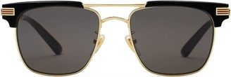 Gucci Square-frame metal sunglasses