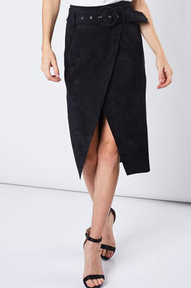 Do & Be Faux Suede Skirt