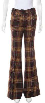 Dolce & Gabbana Plaid Mid-Rise Pants