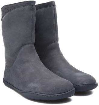 Camper Peu Cami Genuine Shearling Lined Boot
