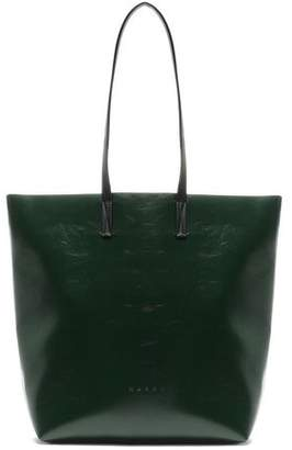 Marni Faux Textured-leather Tote