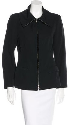 Yohji Yamamoto Wool Zip-Up Jacket $220 thestylecure.com