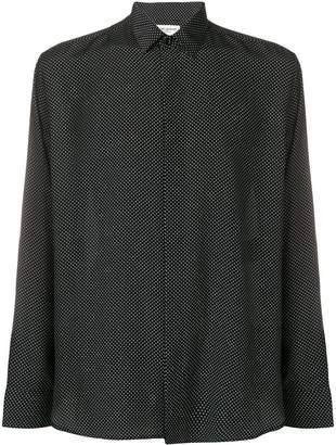Saint Laurent polka-dot fitted shirt