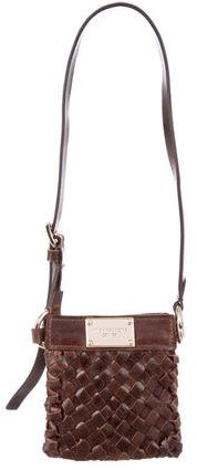 Michael Kors Mini Woven Leather Shoulder Bag