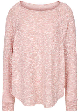 Fat Face Snow Marl Crew Lounge Jumper, Soft Rose