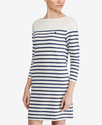 Polo Ralph Lauren Striped Cotton Jersey Dress