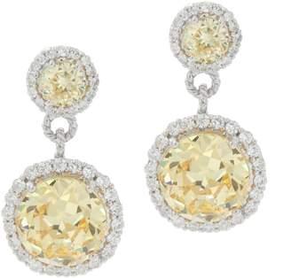 Judith Ripka Sterling Silver Canary Diamonique Drop Earrings