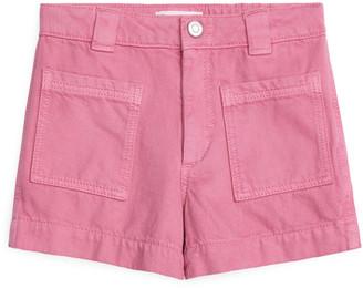 Arket Cotton Lyocell Workwear Shorts