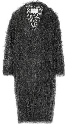 Max Mara Faux Fur-Appliquéd Cotton Coat