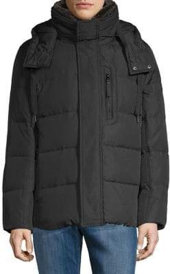 Andrew Marc Quilted Faux Fur Parka
