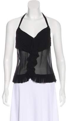 Chanel Silk Halter Top