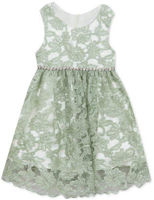 Rare Editions Little Girls Embroidered Lace Dress