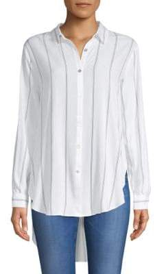 philosophy Striped Hi-Lo Button-Down Shirt