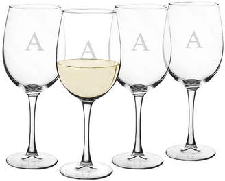 Cathy's Concepts CATHYS CONCEPTS Personalized Set of 4 White Wine Glasses