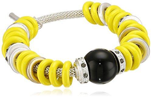 "Kenneth Cole New York ""Urban Rings"" Ring Stretch Bracelet, 7.5"""