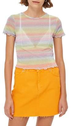Topshop Pastel Rainbow Tee