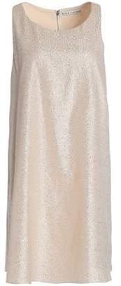 Alice + Olivia Alice+olivia Metallic Crepe Mini Dress