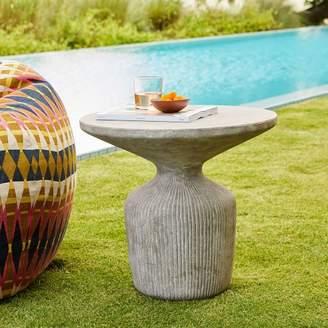 west elm Tambor Concrete Outdoor Drum Side Table