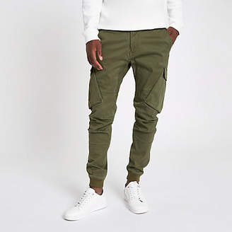 River Island Khaki green tapered cargo pants