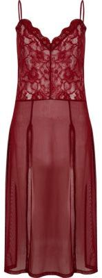 River Island River Island Womens Dark red lace slip cami top