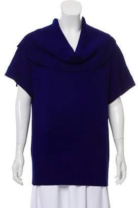 St. John Short Sleeve Wool Sweater