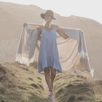 Atlantic Blankets British Wool Herringbone Throw