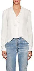 L'Agence Women's Brook Silk Tieneck Blouse - Ivory
