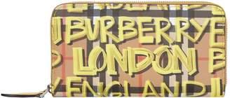 Burberry Graffiti Print Zip-Around Wallet