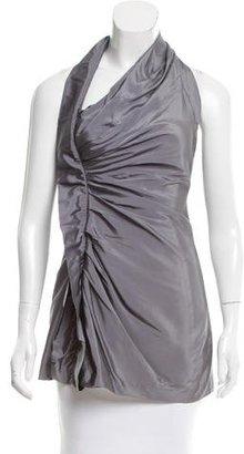 Vera Wang Silk Halter Top $75 thestylecure.com