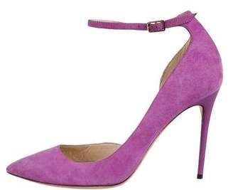 Jimmy Choo Suede Ankle-Strap Pumps