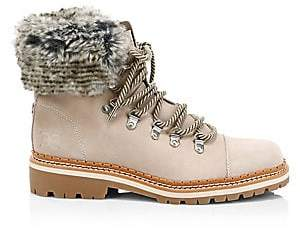 0262465f44a731 Sam Edelman Women s Bowen Bistro Suede and Faux Fur Hiking Boots