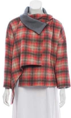 Thakoon Plaid Crossover Coat w/ Tags