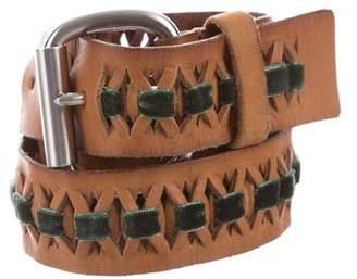 Linea Pelle Leather Skinny Belt