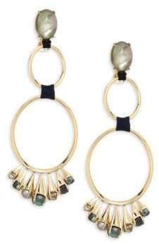 Alexis Bittar Elements Arrayed Cluster & 10K Yellow Gold Dangling Clip-On Earrings