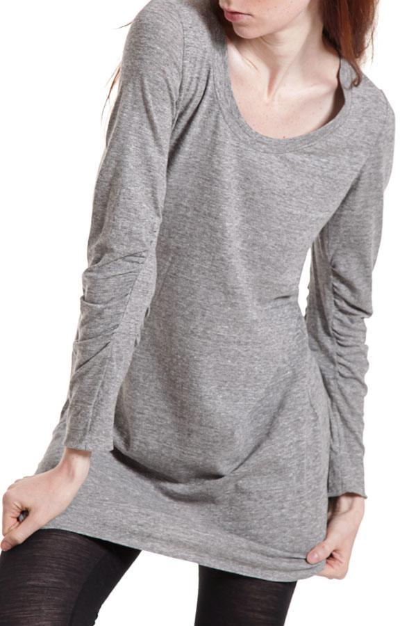 3.1 Phillip Lim Gather Sleeve Ruffle Dress In Heather Grey