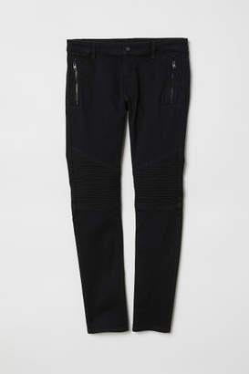 H&M Super-skinny Biker Jeans - Black