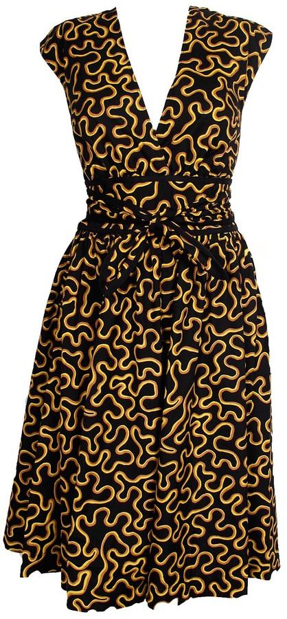 Vena Cava Guadalupe Cross Back Tie Waist Dress