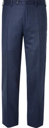 Canali Navy Slim-fit Super 120s Wool Suit Trousers