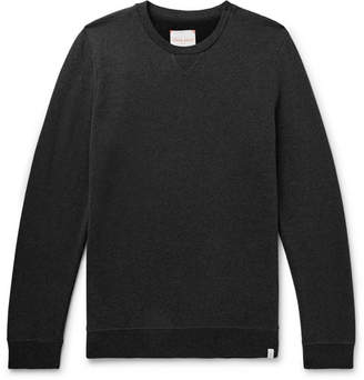 Derek Rose Devon Mélange Loopback Cotton-Jersey Sweatshirt