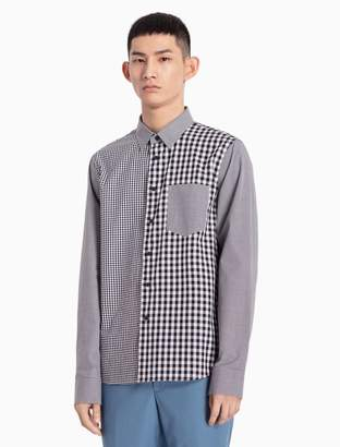 Calvin Klein mixed check woven cotton shirt