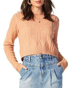 MinkPink Eves Cable Knit