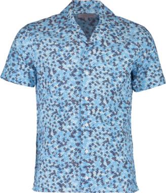 Orlebar Brown Travis Ninfea Bahama Blue Resort Shirt
