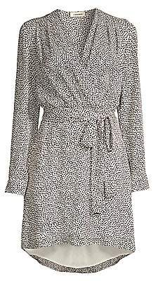 L'Agence Women's Diego Heart Print Wrap Dress