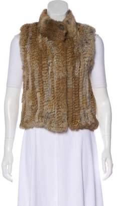 Haute Hippie Rabbit Fur Wool Vest